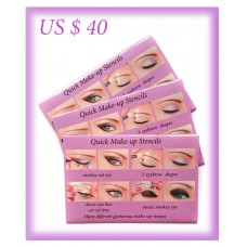 Quick Makeup Stencils 3 sets - US $40